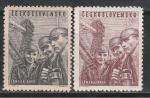 Чехословацкая Молодежь в Горном Деле, ЧССР 1951, 2 марки