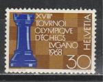 Швейцария 1968 г, Шахматы, 1 марка.