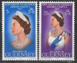 Гернси 1977 г, 25 лет Правления Елизаветы II, 2 марки.
