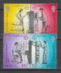 Джерси 1979 г, Европа, История Почты, 2 пары марок