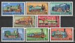 Железнодорожный Транспорт, Паровозы, Венгрия 1972 год, 8 марок. (н