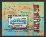 Венгрия 1981 год, Водный Транспорт Дуная, блок