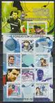 Известные Настольные Теннисисты, Коморы 2009 г, малый лист + блок