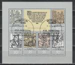 450 лет Крестьянскому Восстанию, Спецгашение. ГДР 1975 год, малый лист
