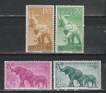 Слоны, Испанская Гвинея 1957, 4 марки
