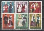 Национальные Костюмы, Болгария 1968 год, 6 марок