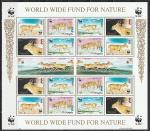 Монголия 1995 г, Фауна WWF, Сайгак, лист.