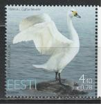 Эстония 2007 г, Птицы, Лебедь, 1 марка. ((