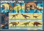 Бенин 2003 год. Динозавры. 2 малых листа.
