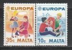 Мальта 1989 год, Европа, Детские Игры, 2 марки.