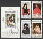 Живопись, Рафаэль, Болгария 1983 год, 4 гашёные марки + блок