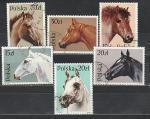 Лошади, Польша 1989, 6 гаш. марок