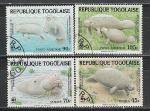 Фауна WWF, Ламантин, Того 1984 год, 4 гашёные марки