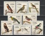 Птицы, Куба 1971 год, 8 гашёных марок