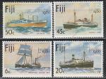 Фиджи 1980 г, Филвыставка в Лондоне, Корабли, 4 марки