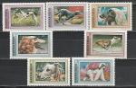 Венгрия 1972 год. Собаки. Борзые. 7 марок. ( (