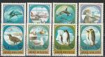 Фауна Антарктиды, Монголия 1980 год, 8 гашёных марок
