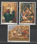 Великобритания 1967 год. Рождество, искусство, живопись, картины. 3 марки.