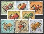 Монголия 1982 год, Трактора, 8 марок.