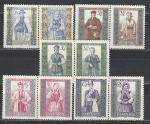 Национальные Костюмы, Польша 1960 год, 5 пар марок
