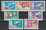 Космос, Аппараты, Монголия 1969 г, 7 марок (Ю)