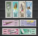 Космос, Монголия 1964 год, 8 марок