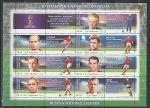 Россия 2015 год, Чемпионат Мира 2018 г, Легенды Футбола, малый лист