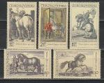 Лошади в Живописи, ЧССР 1969 год, 5 марок