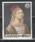 Франция 1980 год, Живопись, Дюрер, 1 марка.