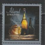 Новый Год, Шампанское,Аланды 2011 год, 1 марка