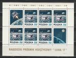 Луноход 1, Польша 1971 год, блок. Ю()