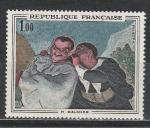 Франция 1966 год. Живопись. Картина Оноре Домье. 1 марка.