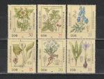 Лекарственные Растения, ГДР 1982 год, 6 марок
