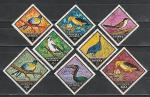 Птицы, Гвинея 1971 год, 9 гашёных марок