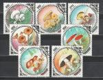 Грибы, Монголия 1985 г, 7 гашёных марок