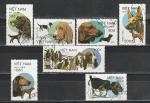 Собаки, Вьетнам 1989 год, 7 гашёных марок