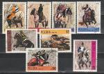 Живопись, Конные Рыцари, Польша 1972 год, 8 гашёных марок