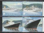 Круизные Суда, Гибралтар 2007 г, 4 марки