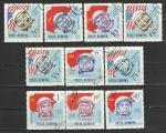 Румыния 1964 год, Космонавты, Астронавты, 10 гашёных марок.