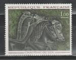 Франция 1966 год, Искусство, Лошади, 1 марка.