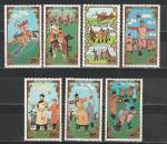 Монголия 1988 год. Национальный спорт. 7 марок.