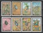 Насекомые, Жуки, Монголия 1972 год ,  8 марок