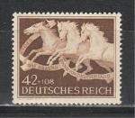 Рейх 1942 год. Скачки. Лошади. 1 марка