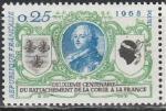Франция 1968 год, 200 лет Присоединения Корсики, 1 марка.