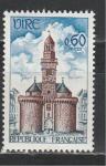 Франция 1967 год, Башня Вире, 1 марка.