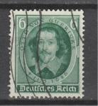 Рейх 1936 год. Физик Отто фон Герике. 1 гашеная марка