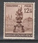 Рейх 1944 год, 1200 лет г. Фульда, 1 марка. наклейки