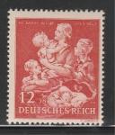 Рейх 1943 год, Женщина с Детьми, 1 марка. наклейка