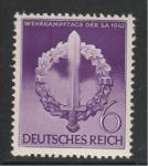 Рейх 1942 год. Эмблема SА. 1 марка с наклейкой