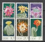 Кактусы, ГДР 1970 год, 6 марок